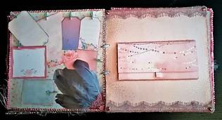 Álbum en scrapbooking inspirado en la temática de la moda y su glamour