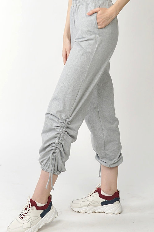Audax Ruched Jogger Pants in Gray