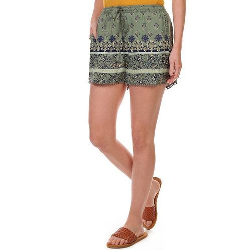 Olive Boho Shorts