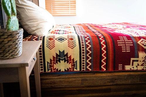 Andean Alpaca Wool Blanket - Wildfire