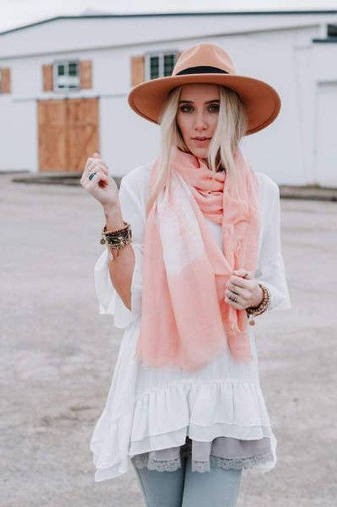 Tie Dye Lightweight Scarf - Rose