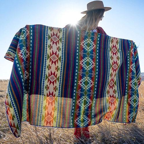 Andean Alpaca Wool Blanket - Galapagos