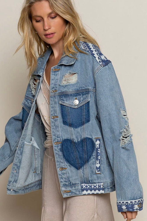 Denim love jacket