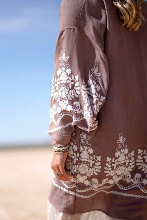 Mazin Floral Kimono