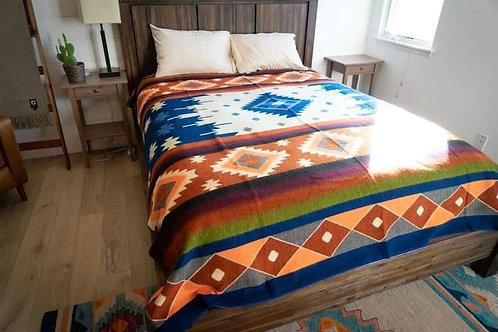 Andean Alpaca Wool Blanket - Arizona Sunset
