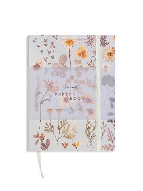 Faux Leather Sketchbook- Golden Garden