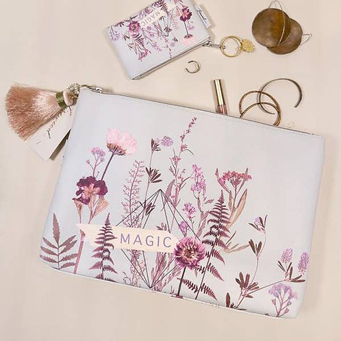 Large Tassel Pouch - Flower Bed