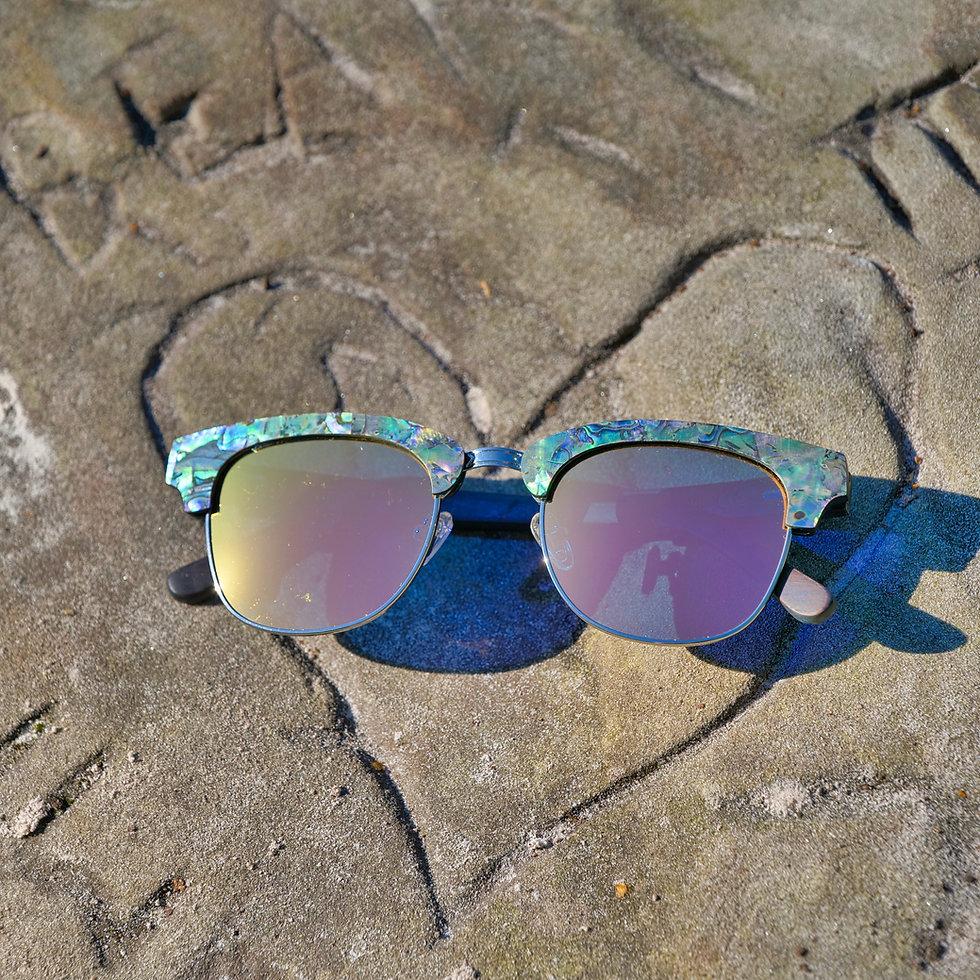 Half-Frame Seashell Polarised Sunglasses by Treeless Products UK
