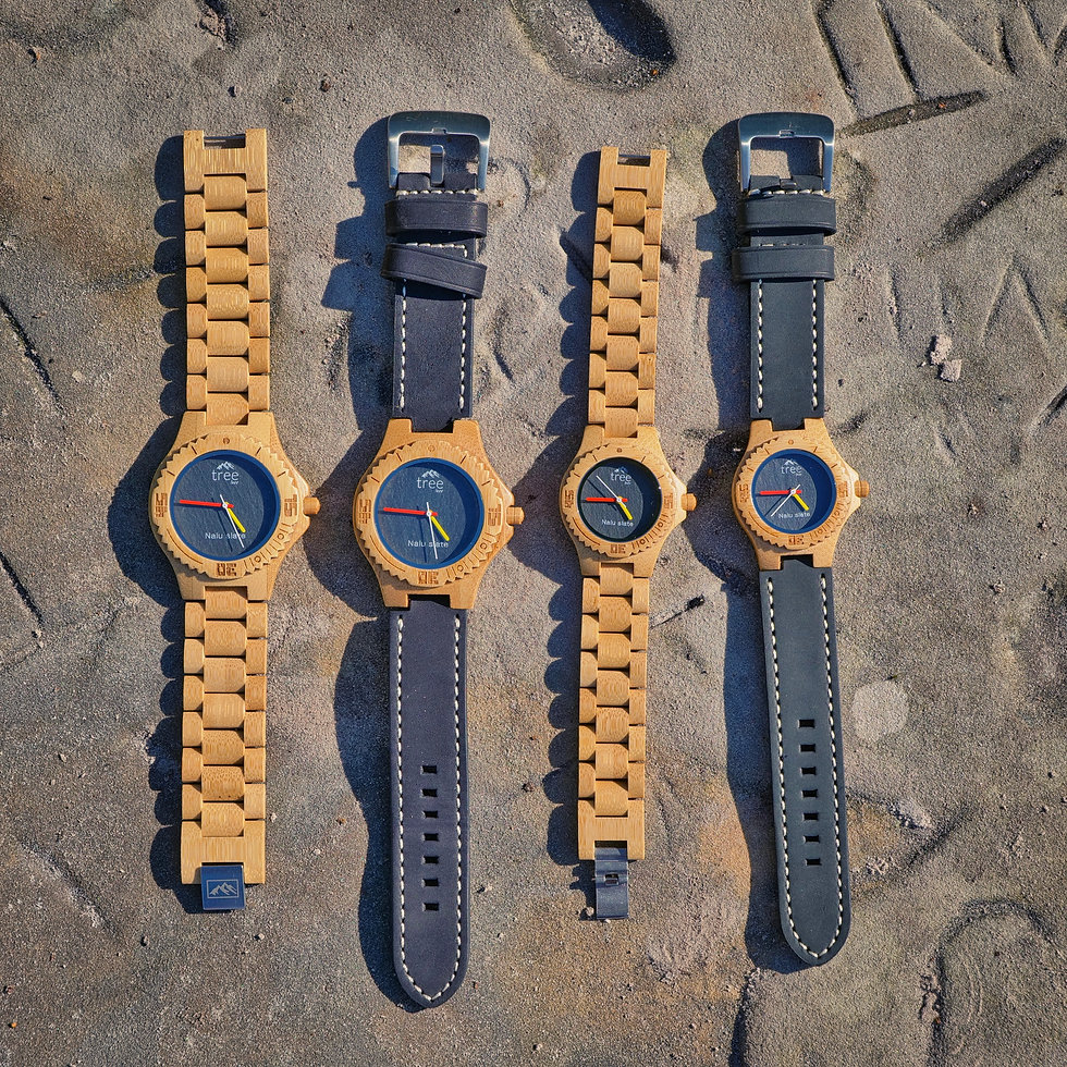 Handcrafted Nalu Slate Face Watches by Treeless Products UK