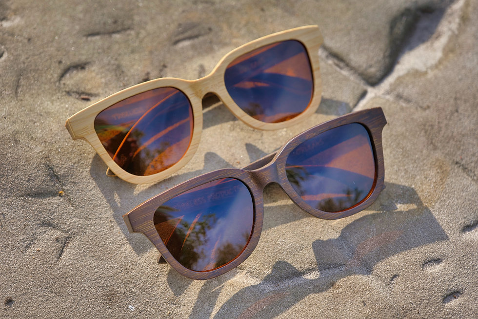 Orleans Handcrafted Natural Bambo Sunglases