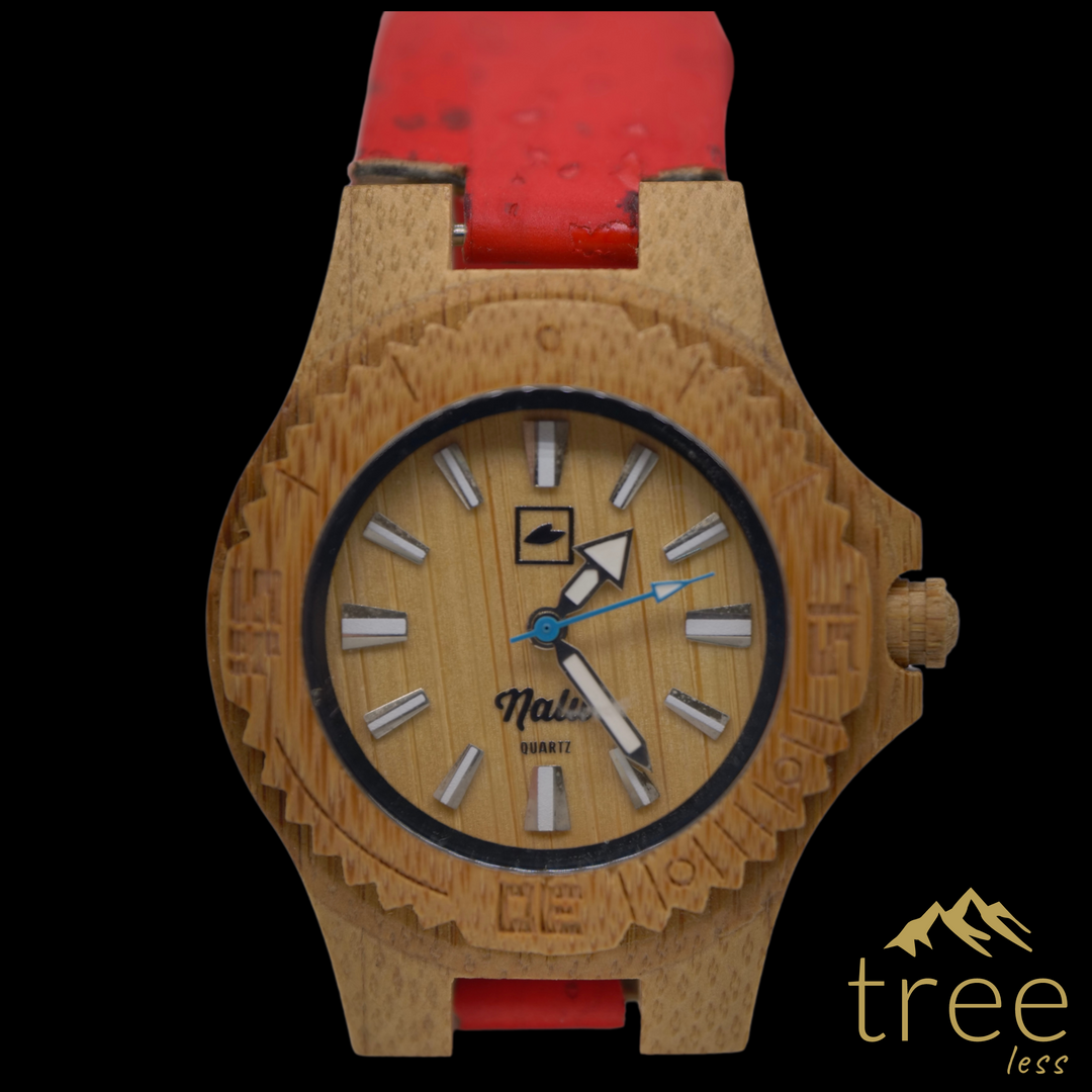 NALU SMALL BAM-Boo Watch - Cork Strap Re
