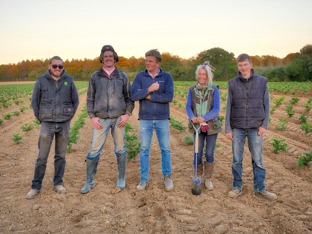 Sussex Christmas Barn Christmas tree planting team