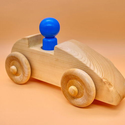 Handcrafted Children's Toy Car with Driver.