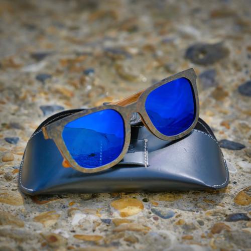 Driskills Sunglasses Slate_Polarised_Blue Lens by Treeless Products - JWUK 2021