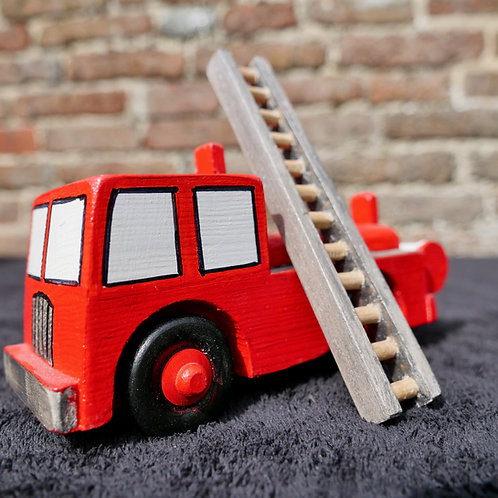 Wooden Fire Engine with removable ladder