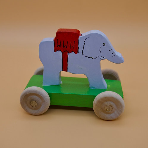 Handcrafted Children's Victorian Style Elephant Penny Toy.