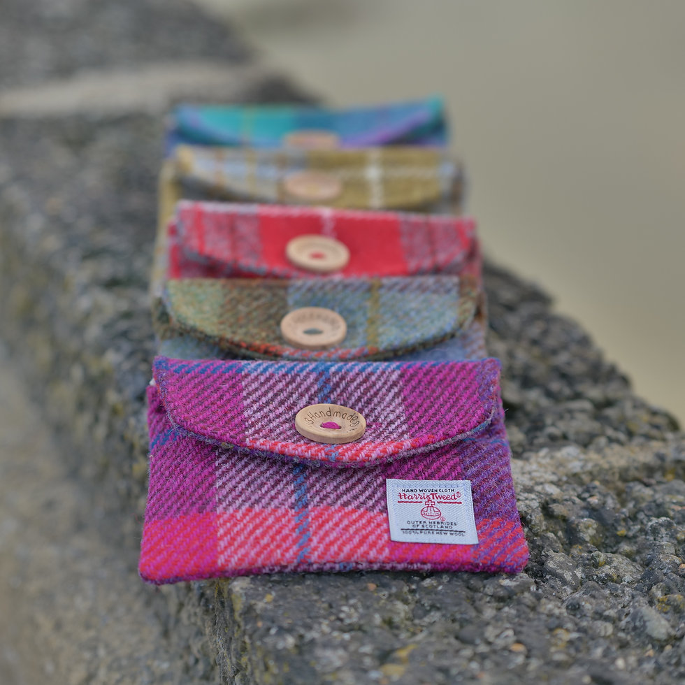 Genuin Haris Tweed Handy Pocket Pouches by Treeless Products UK