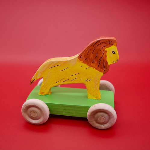 Handcrafted Children's Victorian Style Lion Penny Toy