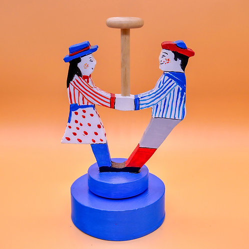Victorian Style 'Spinning' Boy & Girl Toy