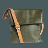 Quintessential - Leather Cross Body Bag – Dark Green