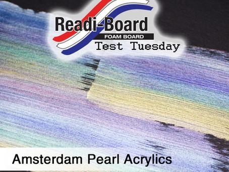 Test Tuesday: Amsterdam Pearl Acrylics
