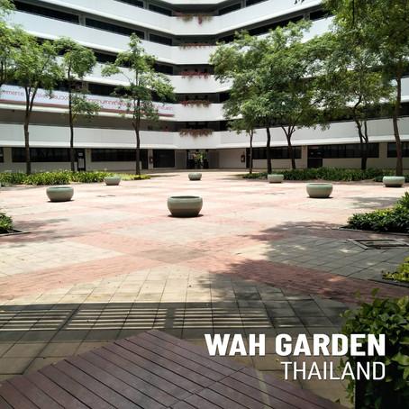ไปรษณีย์ไทย (สำนักงานใหญ่) เขตหลักสี่ กรุงเทพฯ ปรับภูมิทัศน์บริเวณรอบอาคาร ด้วยการปลูกบัวสวยงาม