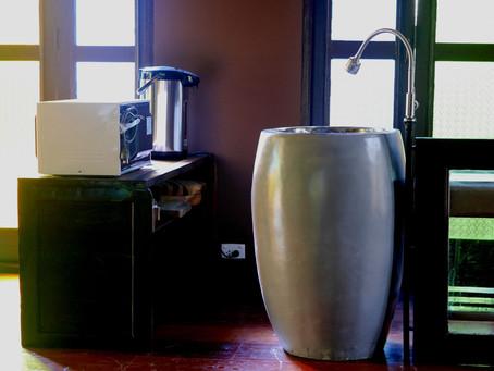 ทำชิ้งค์ล้างจานจากกระถางปูนซิเมนต์โมเดิร์น