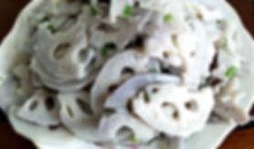 ผัดรากบัว Lotus Root Fried vegetables