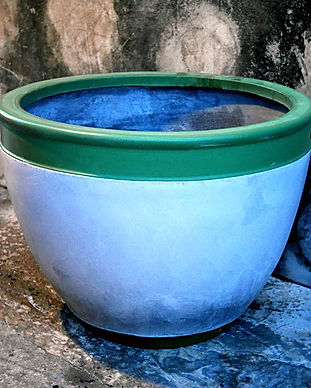 U shape cement planter vase cement pot c