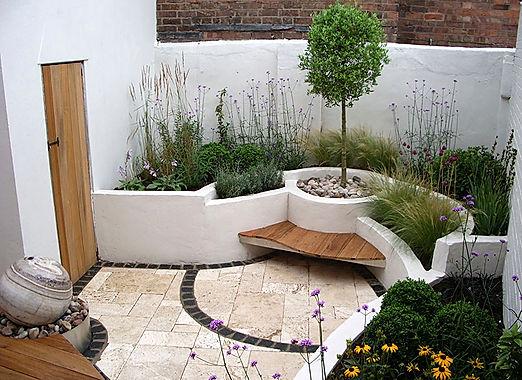 จัดสวนสวย concrete planters บ้านและสวน