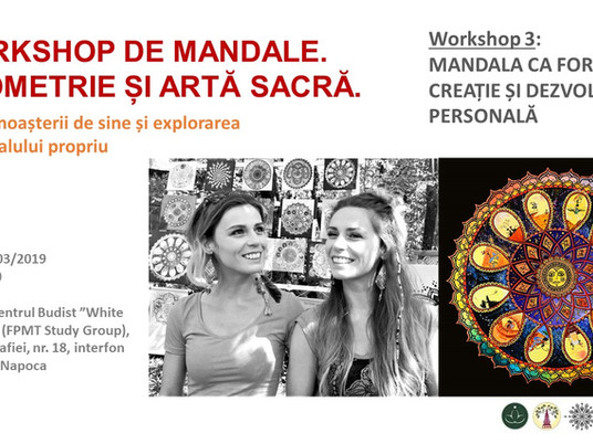 Upcoming event! Workshop 3: Mandala as a tool of Creation and Personal Development!