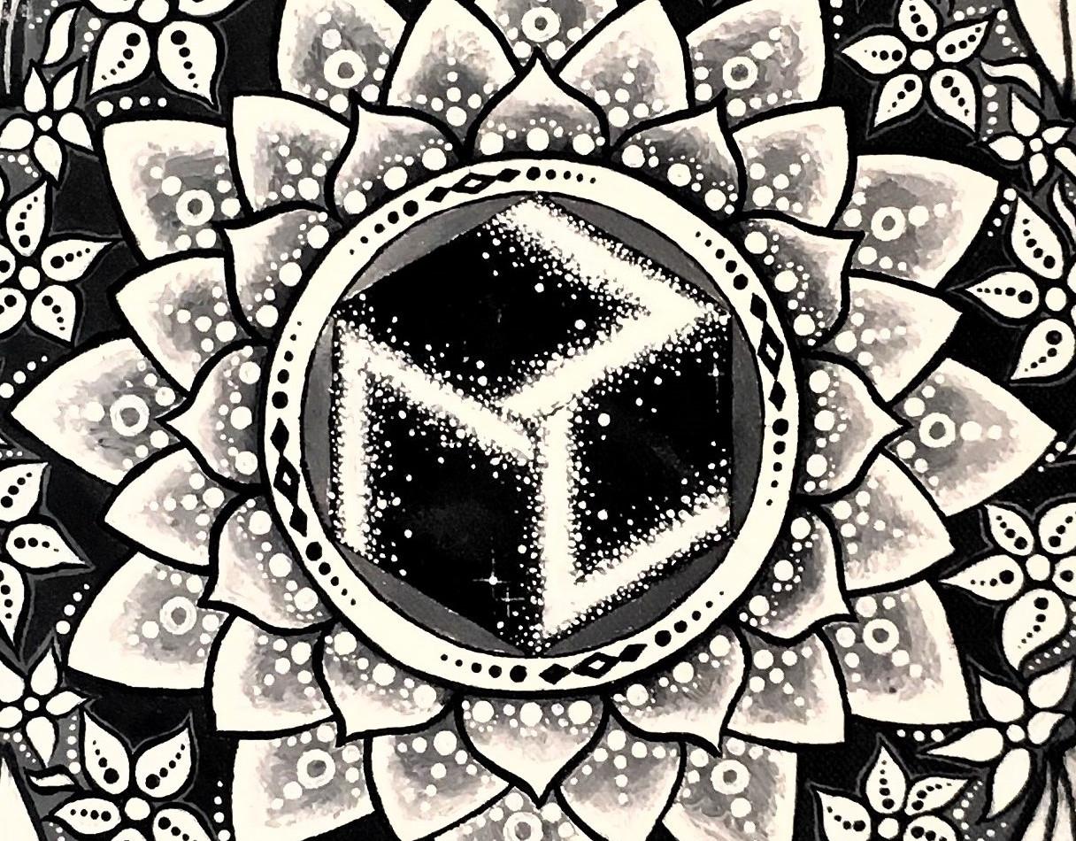 Antahkarana symbol in the center