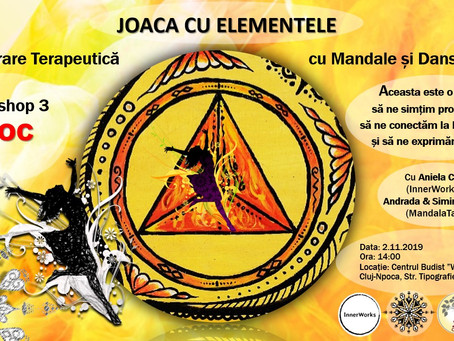 """Therapeutic Workshop with Mandalas and Expressive Dance! FIRE - """"The Ring of Fire"""""""