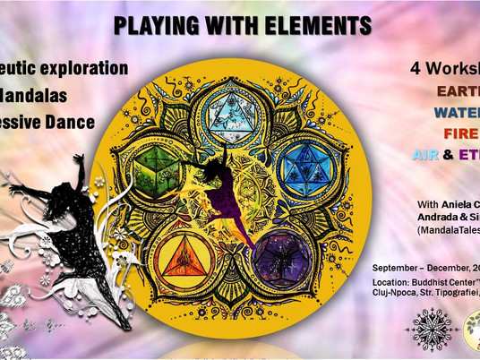 A new series of Therapeutic Workshops with Mandalas and Expressive Dance!