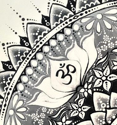 OM symbol and the lotus flower