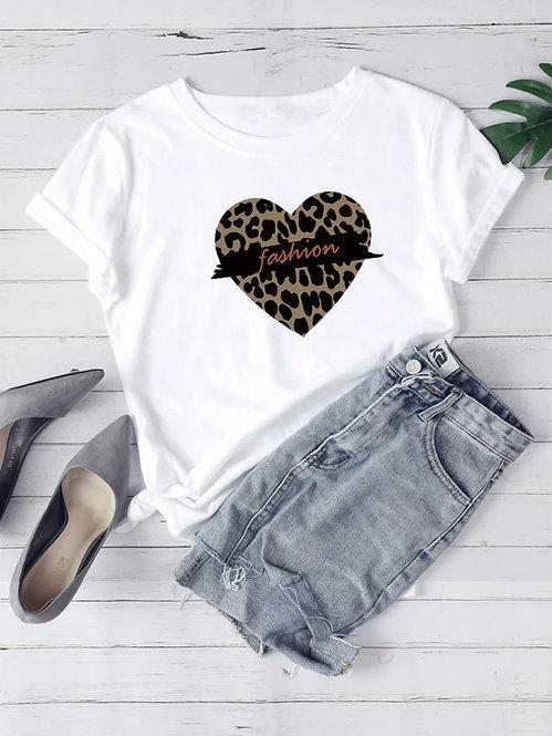 T-Shirt Estampado de Leopardo
