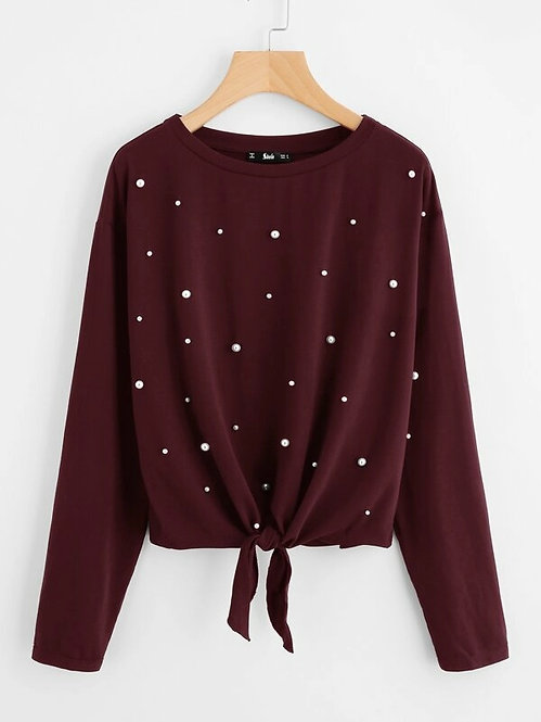 Sweater Vino Perla