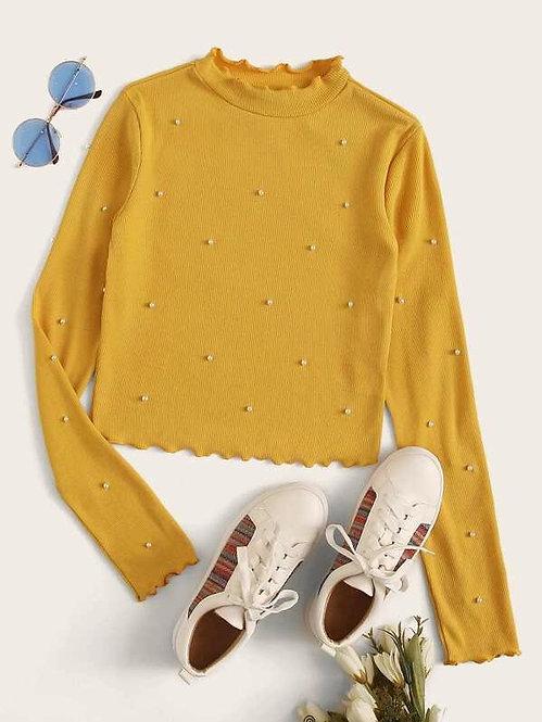 Sweater Top de Perlas