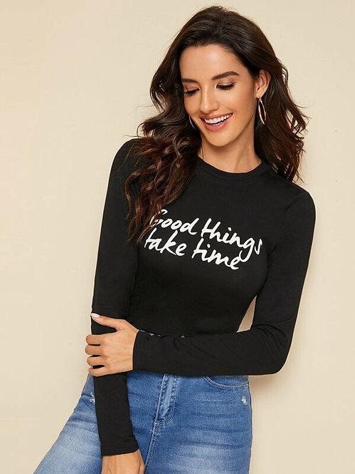 Camiseta Ajustada Negra