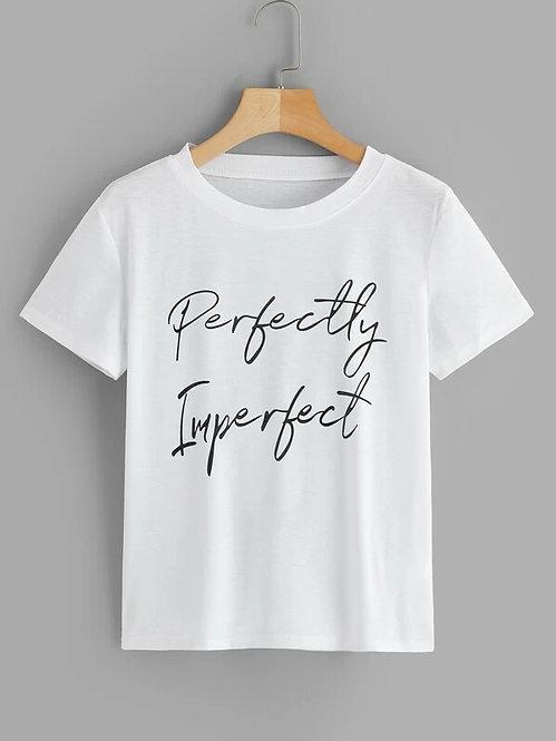 T-Shirt Estampado en Letras