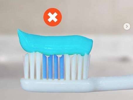 ¿Cuánta pasta dental debes usar al cepillarte?