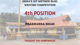 Dissent on the Sabarimala Judgment