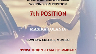 Prostitution – Legal or Immoral?