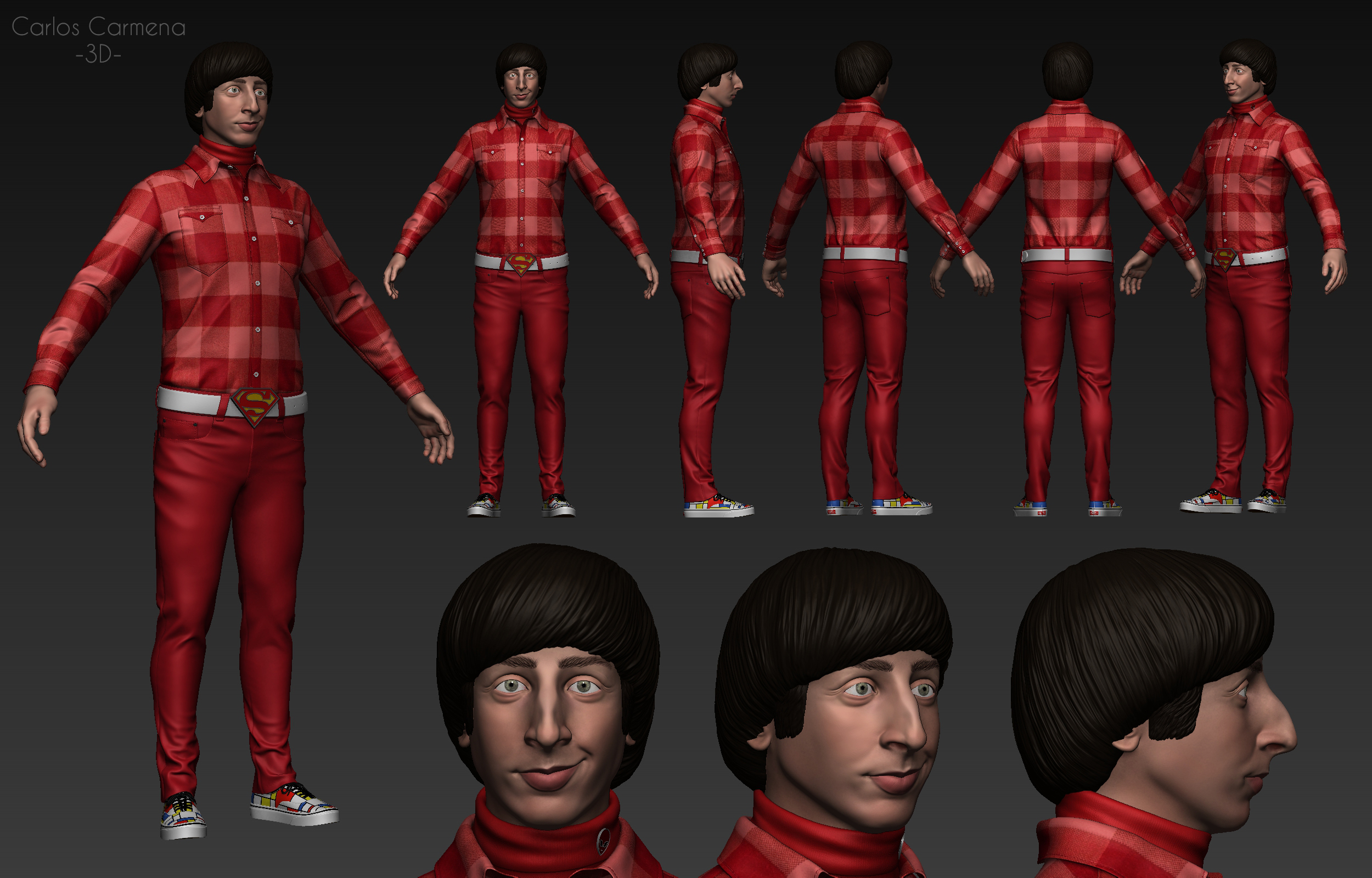 Howard Wolowitz, vistas color.