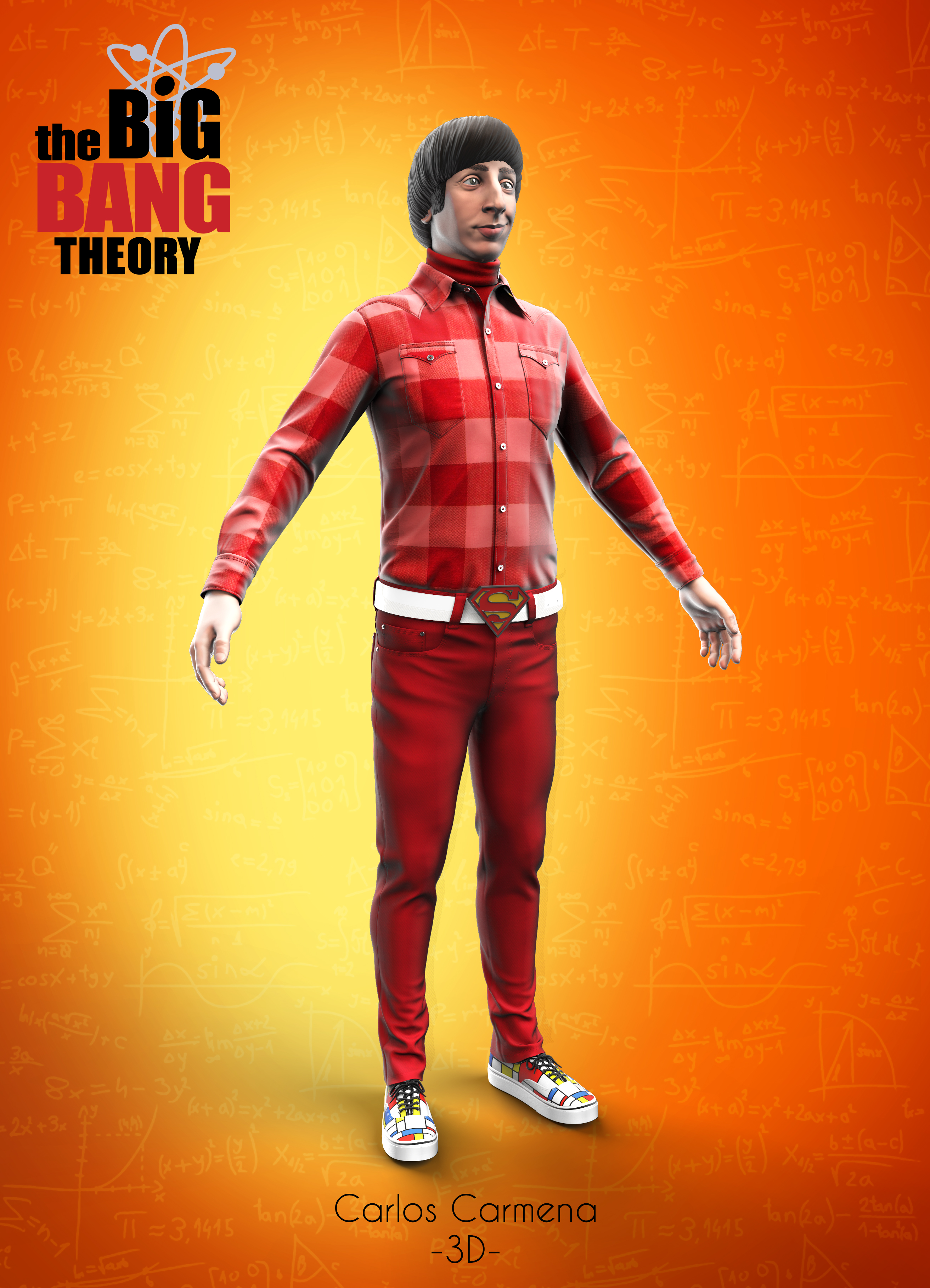 Howard Wolowitz, Render.
