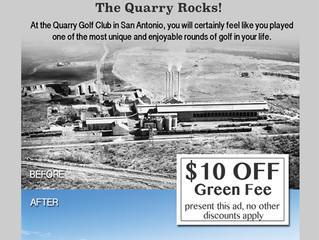 $10 OFF at The Quarry Golf Course