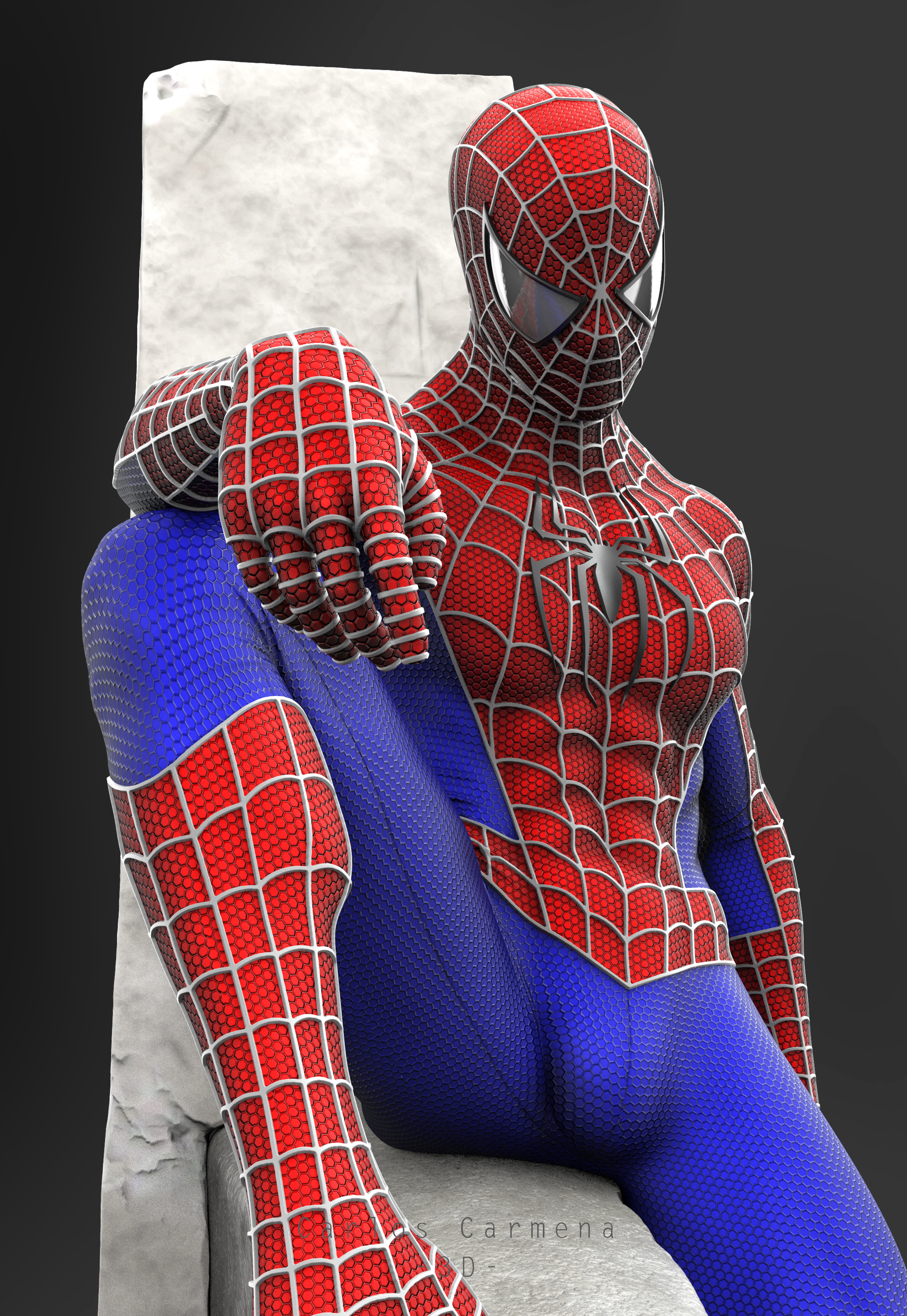 Proyecto Spiderman, Render 5 color.