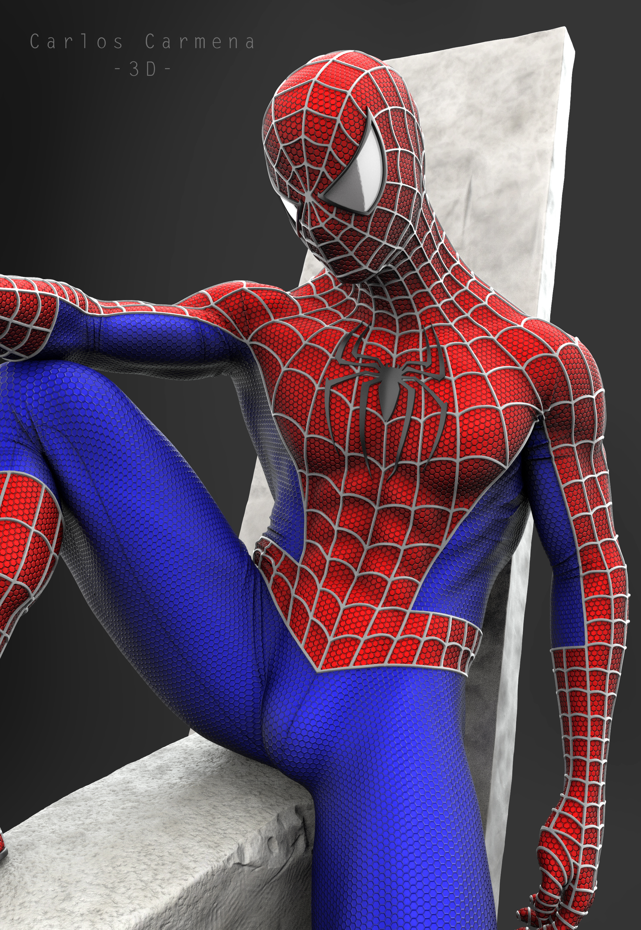 Proyecto Spiderman, Render 7 color.