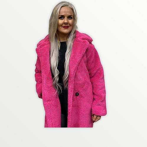 Cerise Teddy coat