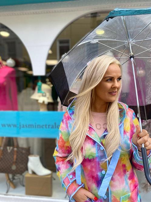 Waterproof rainbow jacket